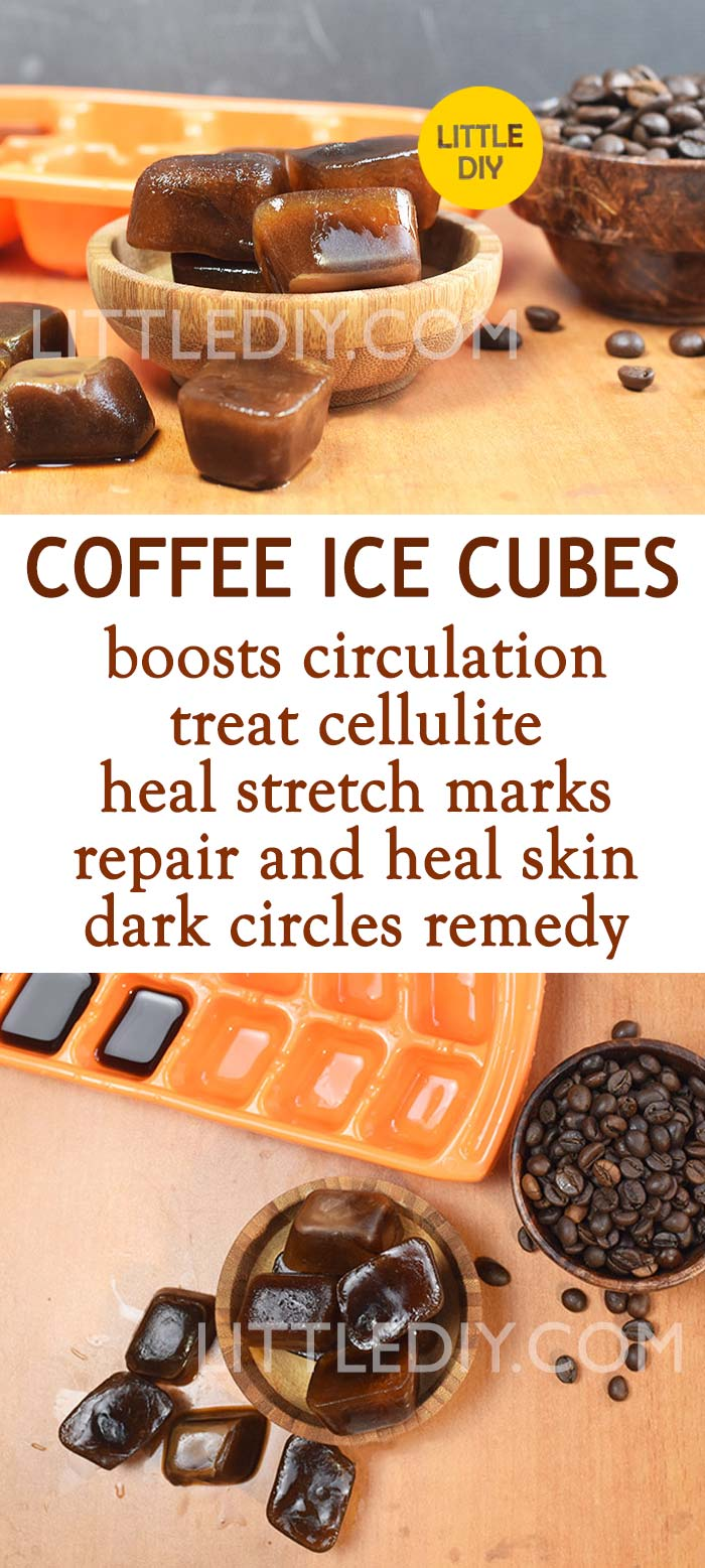 COFFEE ICE CUBES TO GET RID OF CELLULITE AND STRETCH MARKS