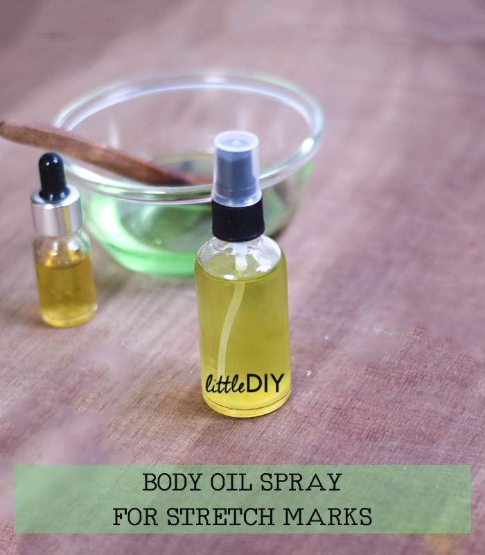 BODY OIL SPRAY TO TREAT AND PREVENT STRETCH MARKS