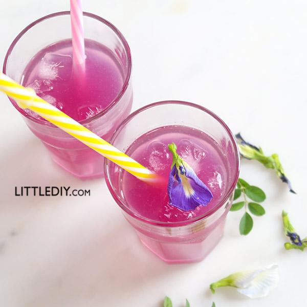 BUTTERFLY PEA TEA LEMONADE