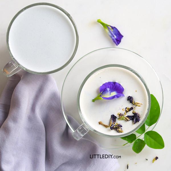 CAFFEINE-FREE BUTTERFLY PEA LATTE