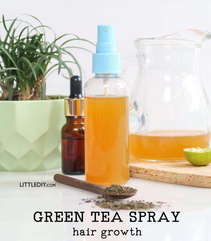 HOMEMADE GREEN TEA HAIR GROWTH SPRAY