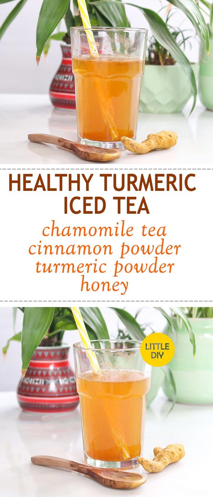 HEALTHY TURMERIC ICED TEA