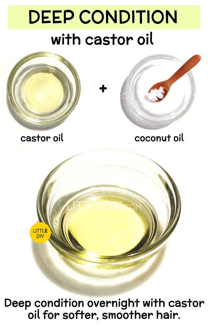 Overnight Castor oil Hair Mask to Deep condition hair :