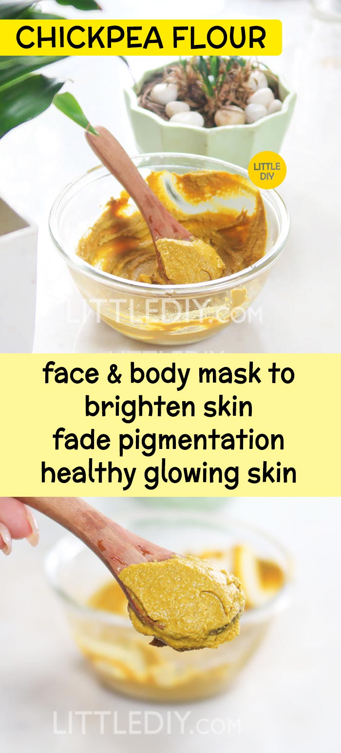 Skin Brightening Chickpea Flour Face & Body Mask