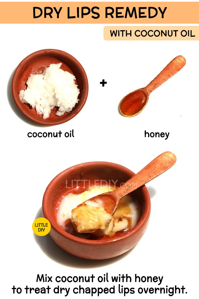 Coconut Oil dry lips Remedy -