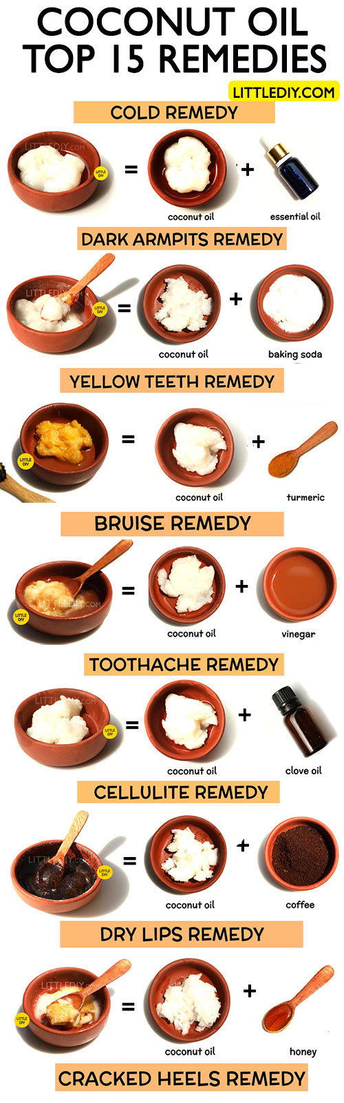 TOP 15 AMAZING COCONUT OIL HOME REMEDIES