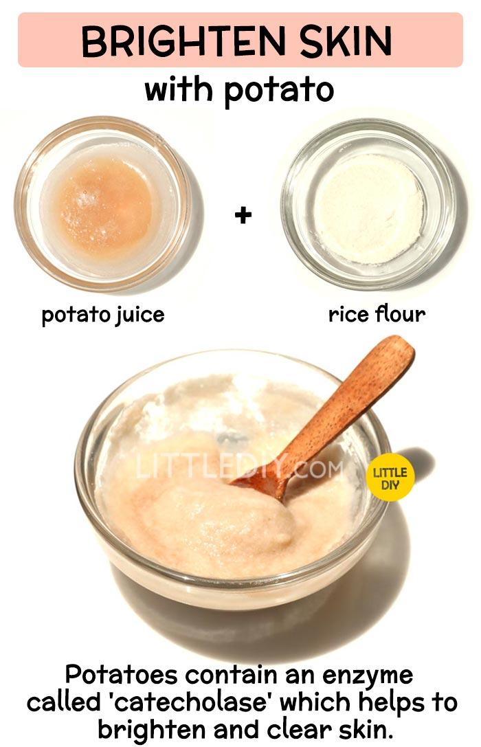 Potato to brighten skin -