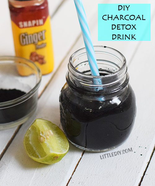 DIY ACTIVATED CHARCOAL DETOX DRINK
