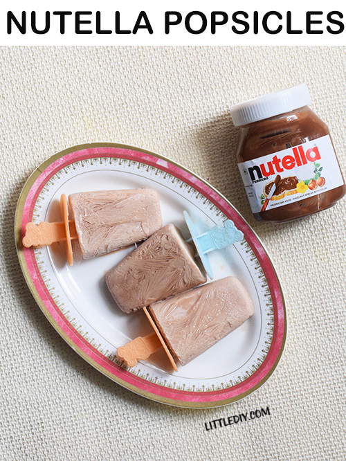 DELICIOUS NUTELLA POPSICLES