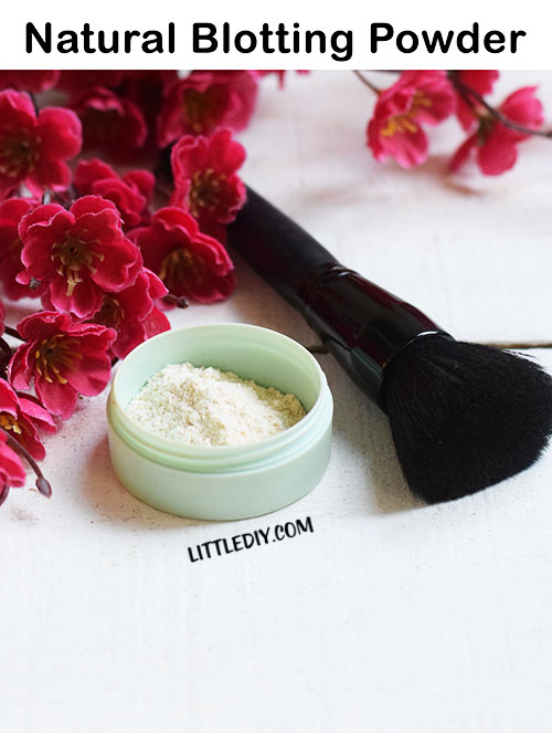 HOMEMADE 1-INGREDIENT NATURAL BLOTTING POWDER