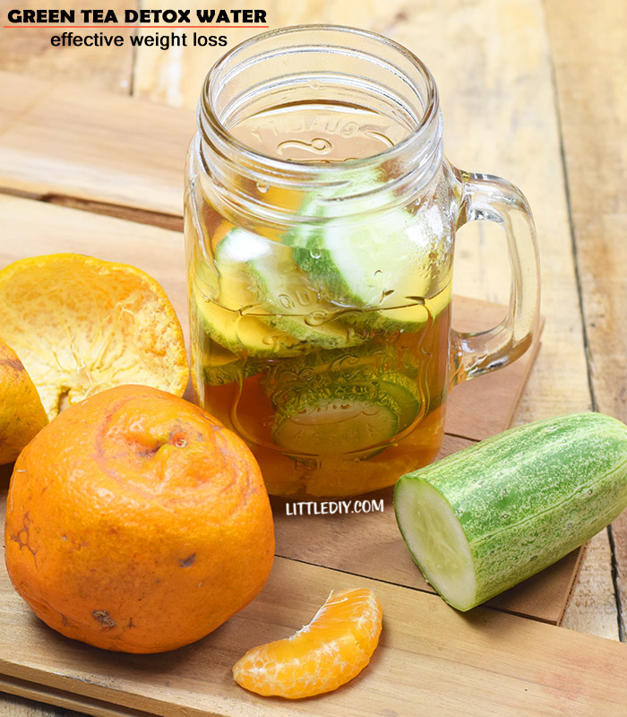 GREEN TEA DETOX WATER FOR WEIGHT LOSS