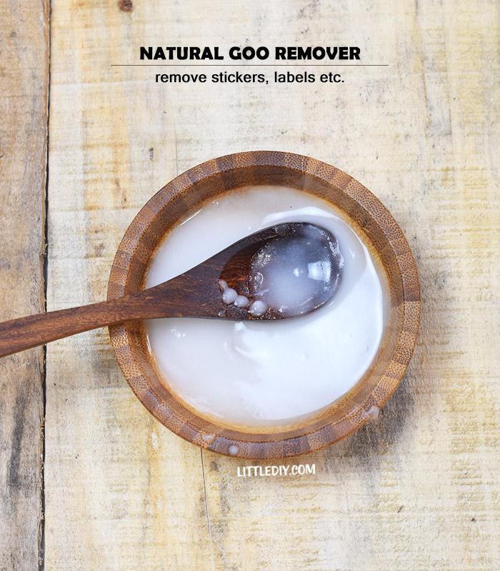 DIY NATURAL GOO REMOVER- REMOVE STICKERS, LABELS ETC.