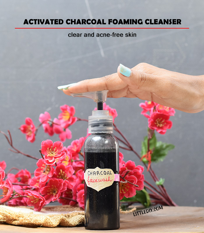 Photo of CHARCOAL FOAMING FACE CLEANSER TO CLEAR ACNE