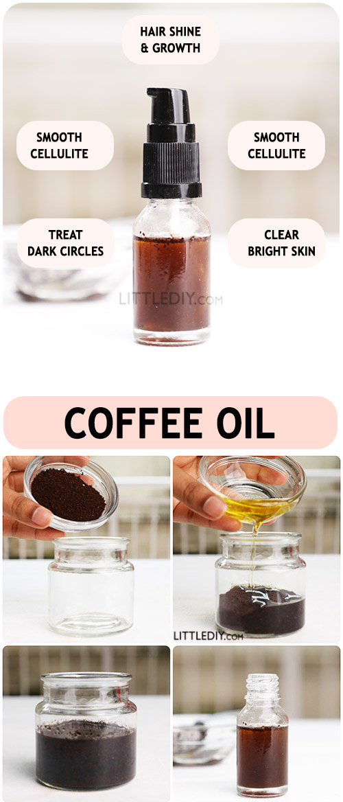 Photo of DIY Coffee oil for glowing skin and shiny hair