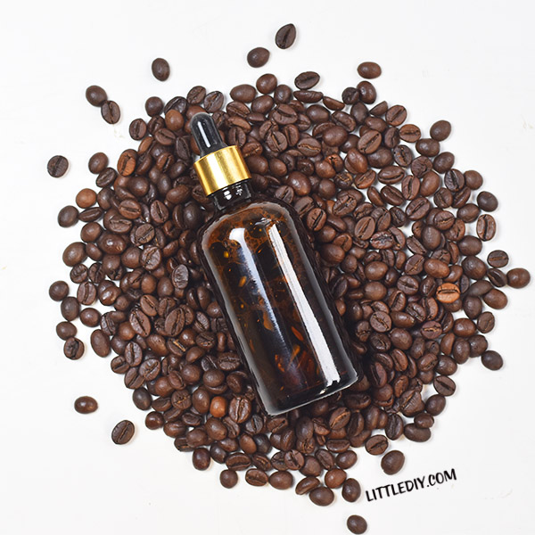 DIY Coffee oil for glowing skin and shiny hair