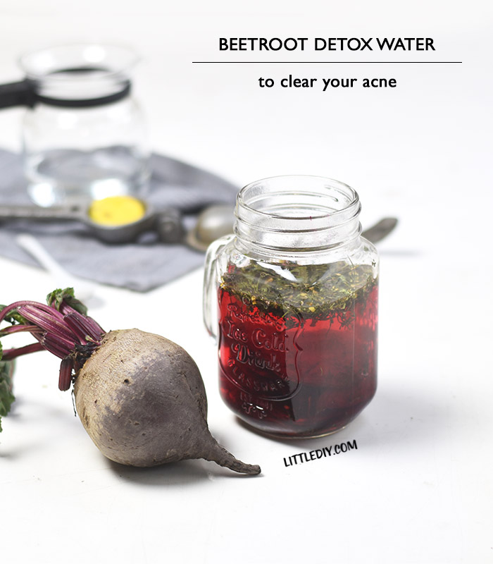 BEETROOT DETOX WATER FOR ACNE