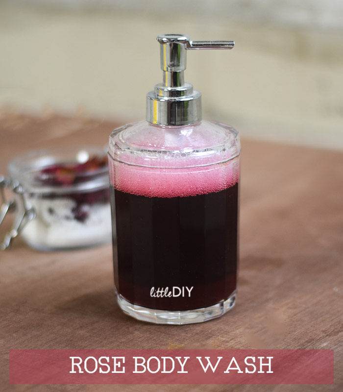 ROSE BODY WASH USING DRIED ROSES