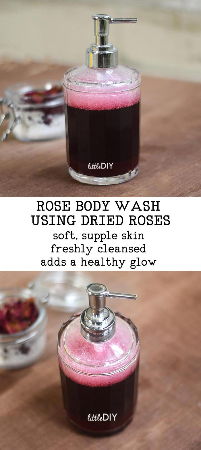 Photo of ROSE BODY WASH USING DRIED ROSES