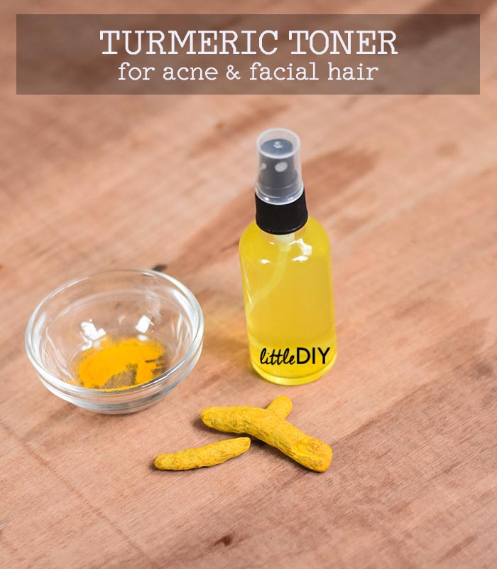 TURMERIC TONER TO REDUCE BREAKOUTS AND FACIAL HAIR