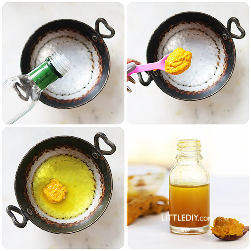 HOW TO MAKE TURMERIC OIL