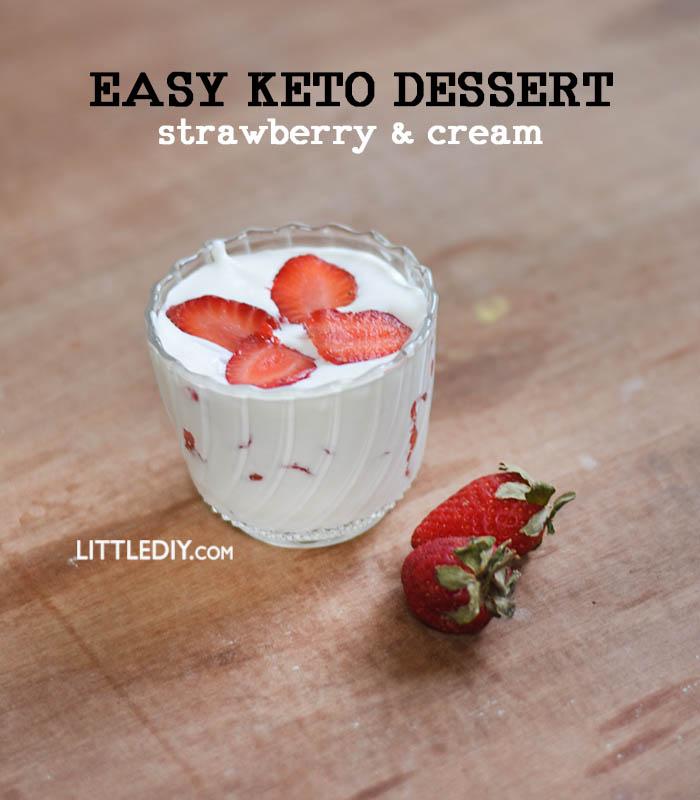 STRAWBERRIES AND CREAM DESSERT- KETO