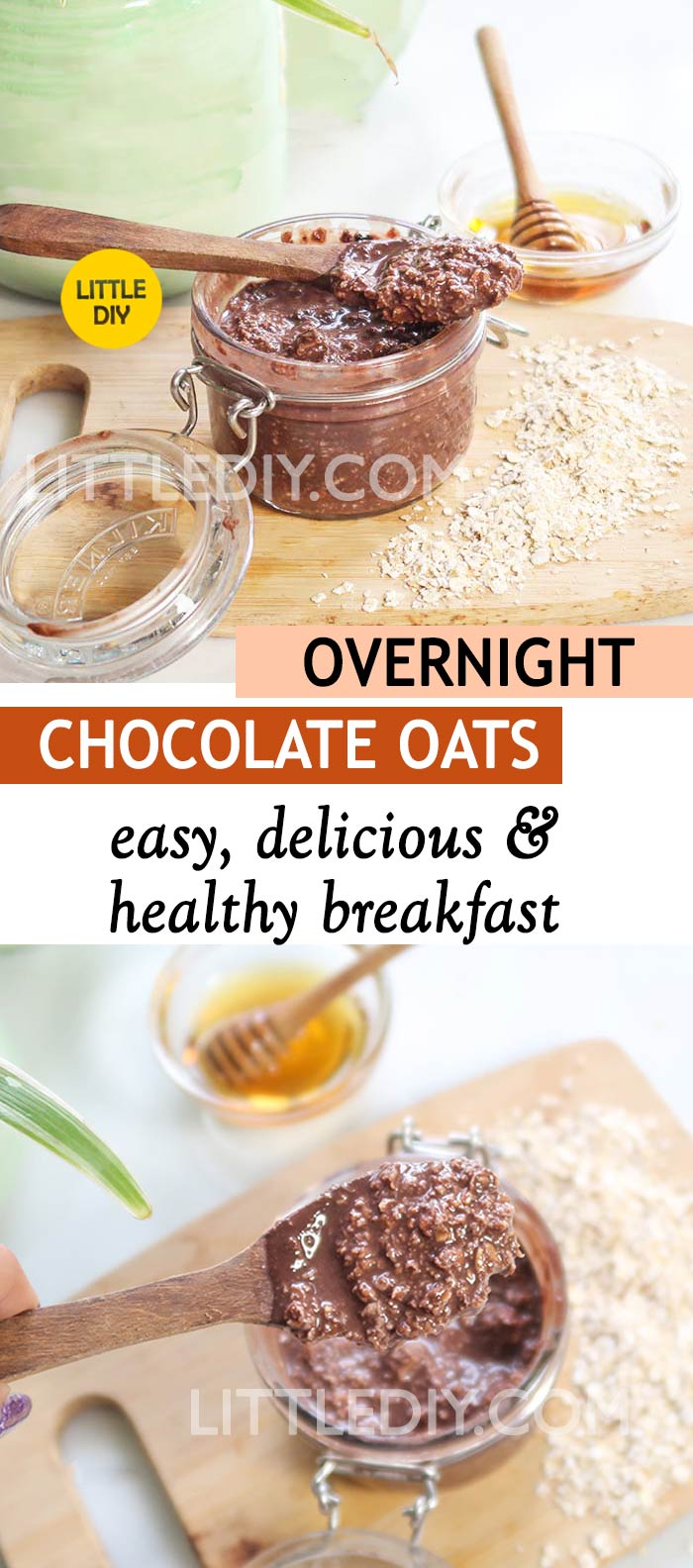 Photo of OVERNIGHT CHOCOLATE OATS RECIPE – EASY, QUICK AND HEALTHY BREAKFAST