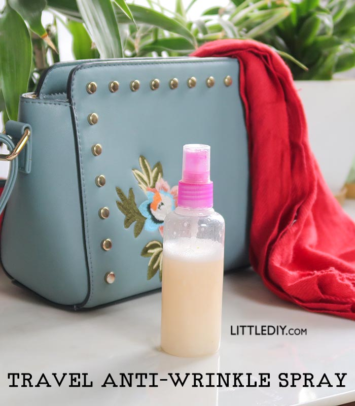 TRAVEL SPRAY FOR REMOVING WRINKLES FROM CLOTHES