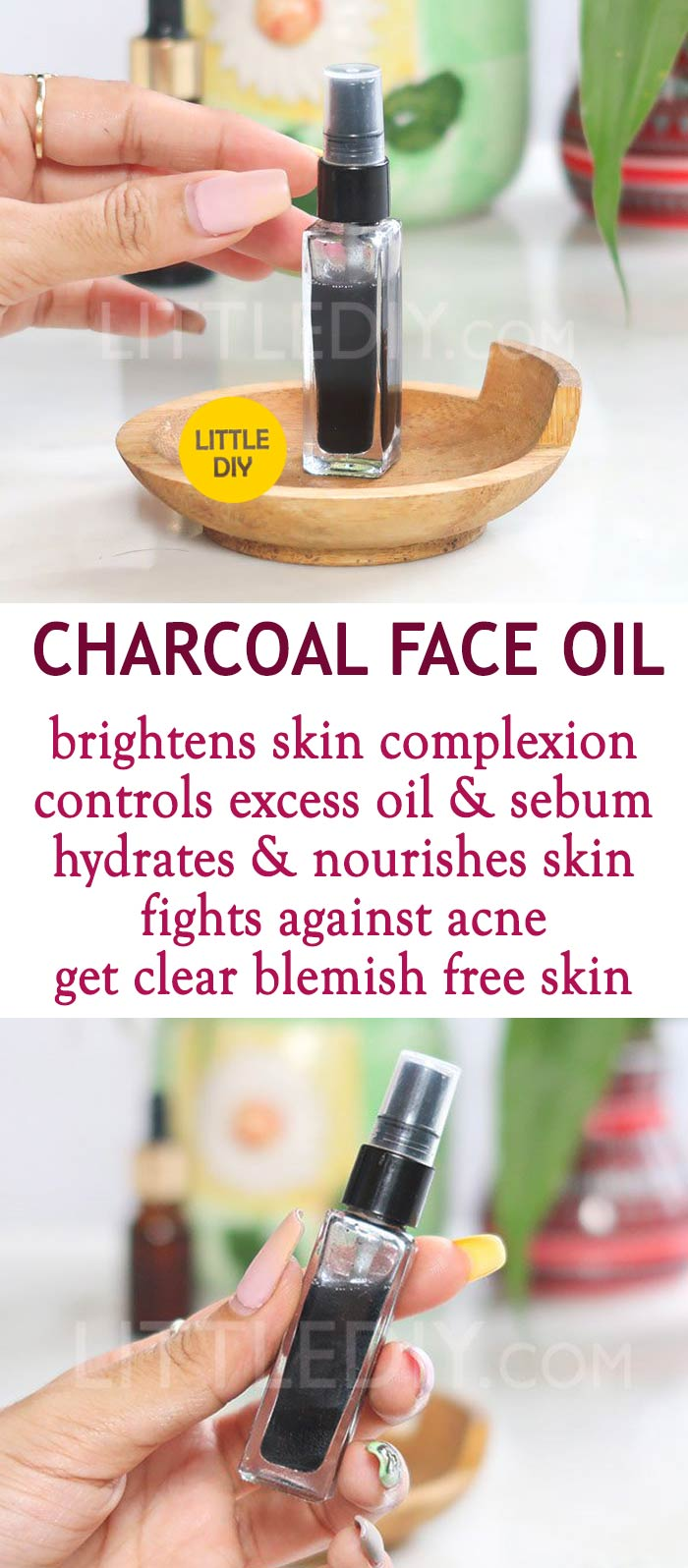Photo of CHARCOAL FACE OIL FOR CLEAR SKIN