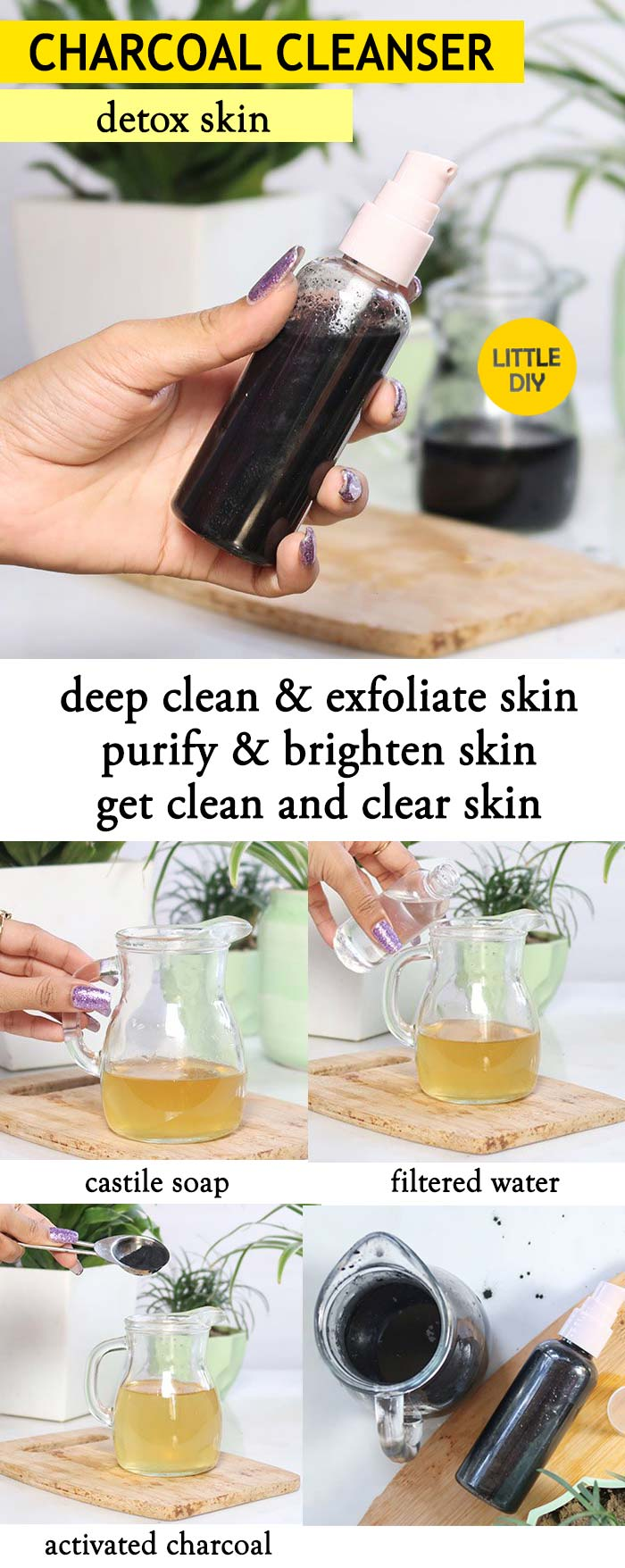 Photo of ACTIVATED CHARCOAL CLEANSER TO CLEAR ACNE