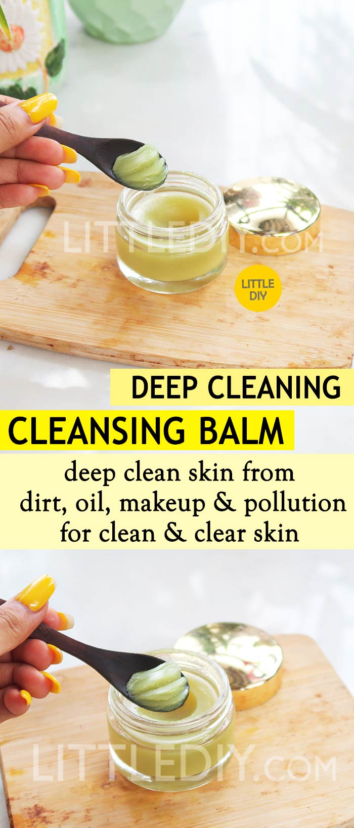 Photo of ALMOND OIL CLEANSING BALM to deep clean skin