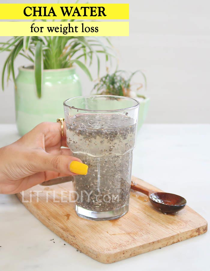 CHIA LEMON WEIGHT LOSS WATER
