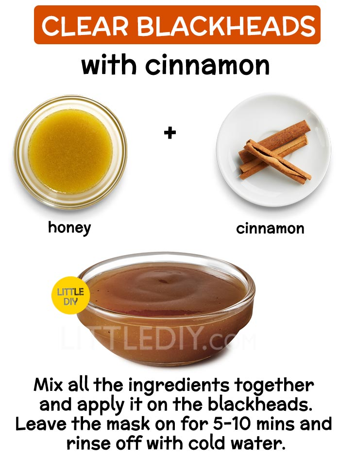 Clear Blackheads with cinnamon
