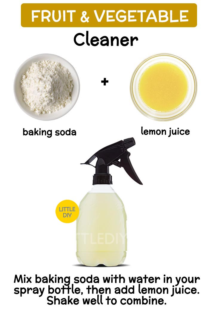 Photo of Fruit and Vegetable Cleaner with Lemon Juice