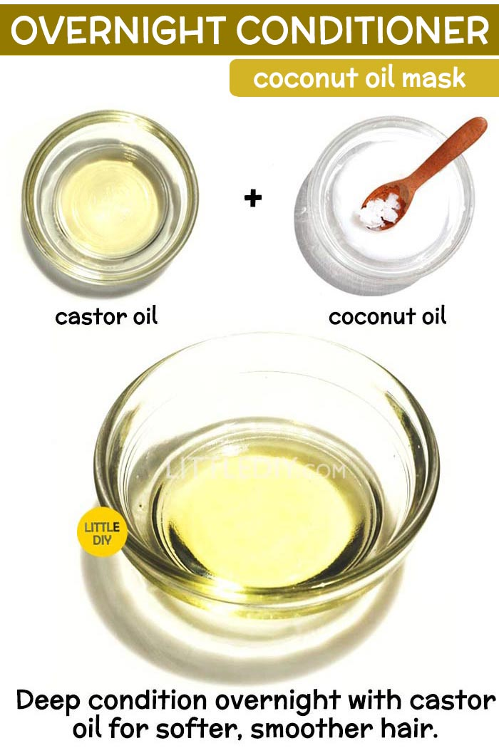 Overnight coconut oil hair mask for deep conditioner -