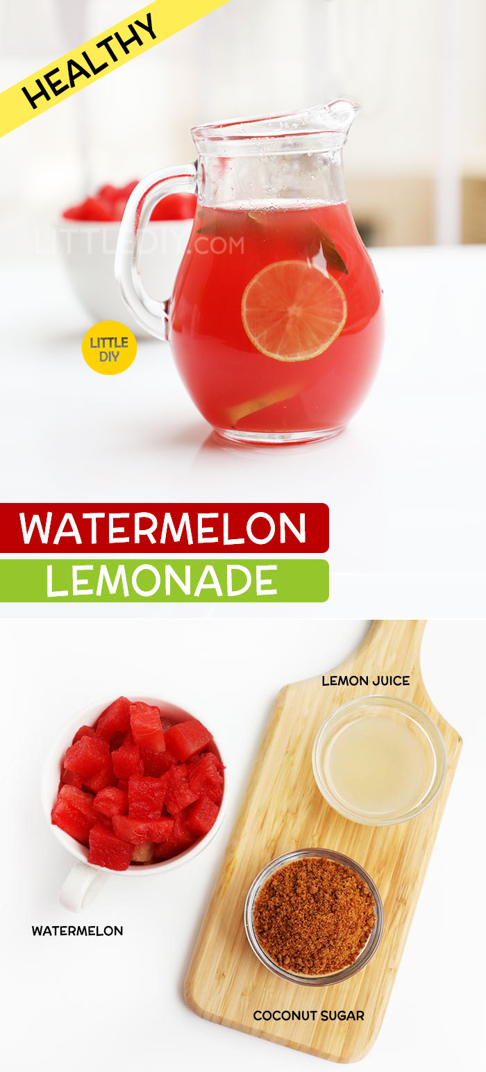 HEALTHY WATERMELON LEMONADE RECIPE