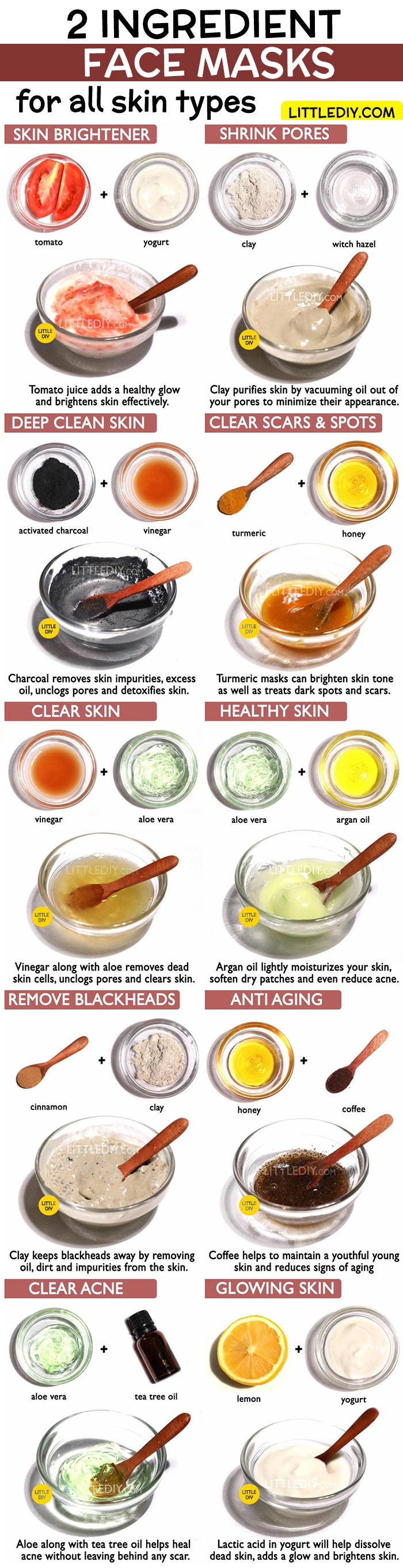 Top 10 2 INGREDIENT AMAZING FACE MASKS for all skin type