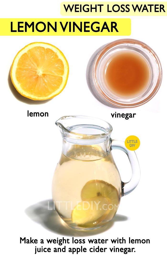 Lemon Vinegar Weight loss Drink Recipe -