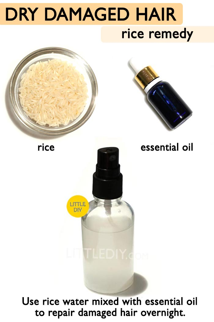 Overnight Rice water hair spray -
