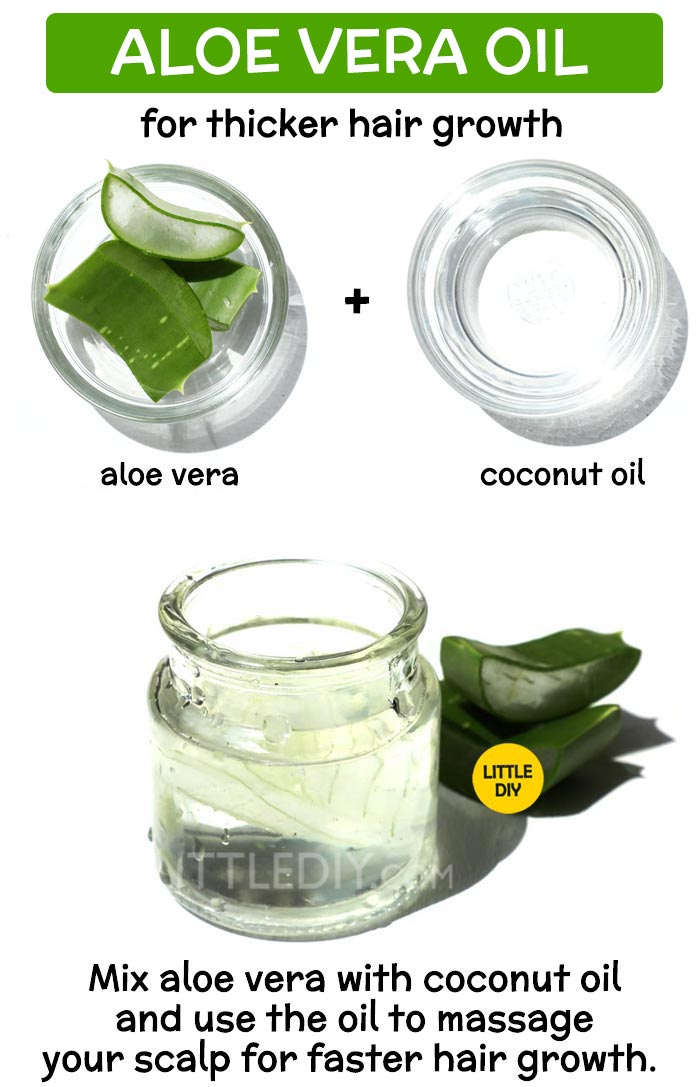 DIY ALOE VERA OIL for faster and thicker hair growth