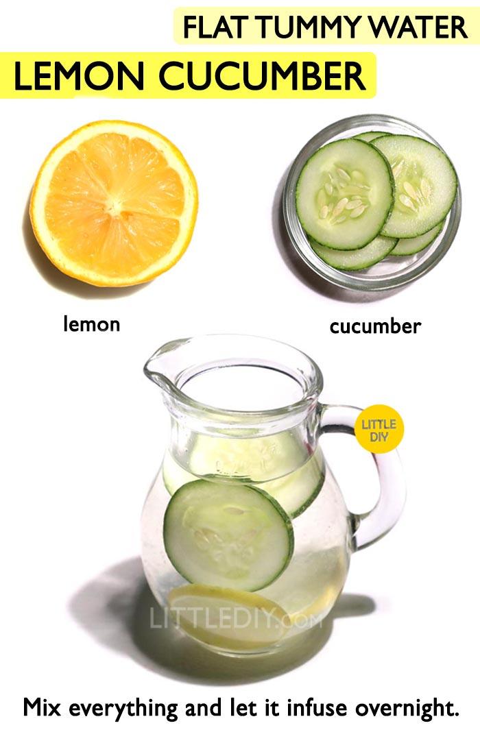 Lemon Cucumber Weight loss Water -