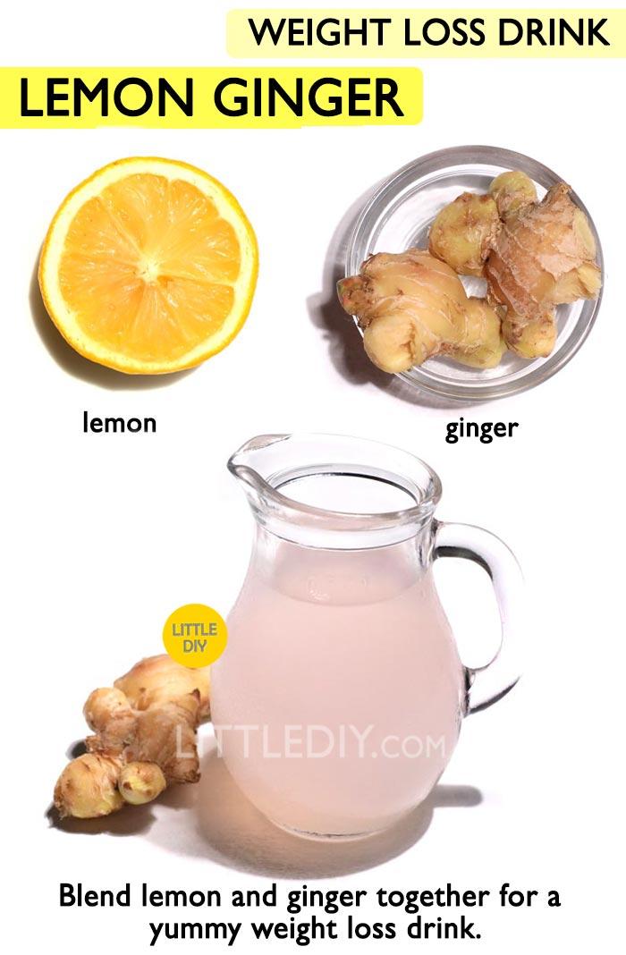 Lemon Ginger Weight loss Lemonade Recipe -