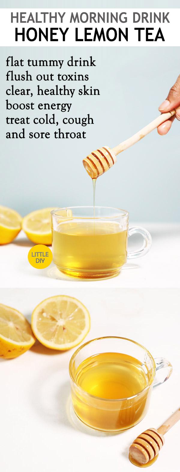 Photo of MORNING DETOX TEA  – HONEY LEMON TEA RECIPE