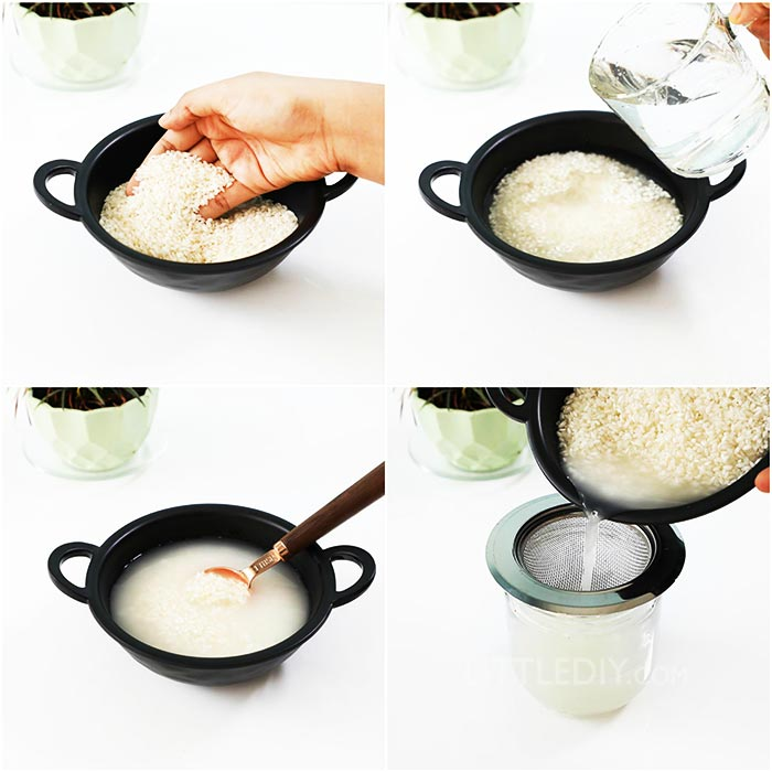 HOW TO MAKE RICE WATER