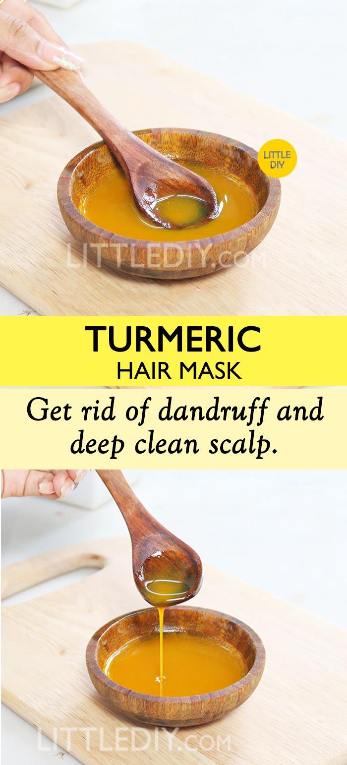 TURMERIC HAIR TREATMENT FOR DANDRUFF