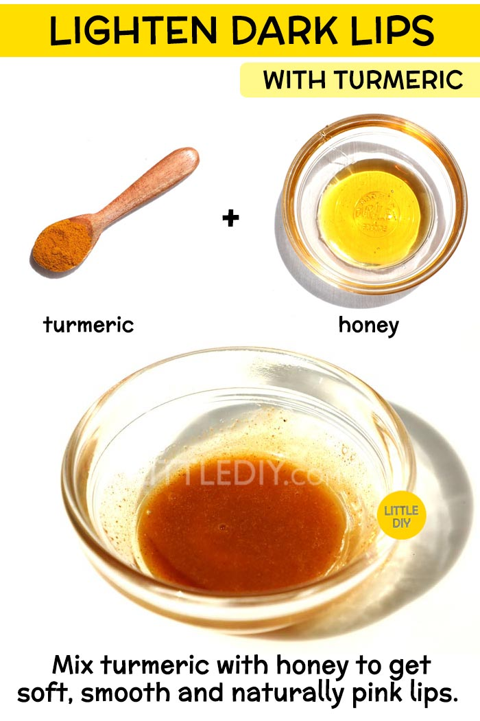 Lighten discolored lips with turmeric -