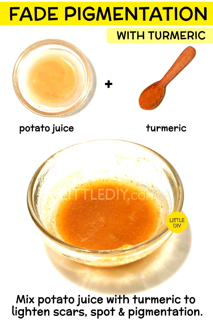 Fade pigmentation with turmeric -