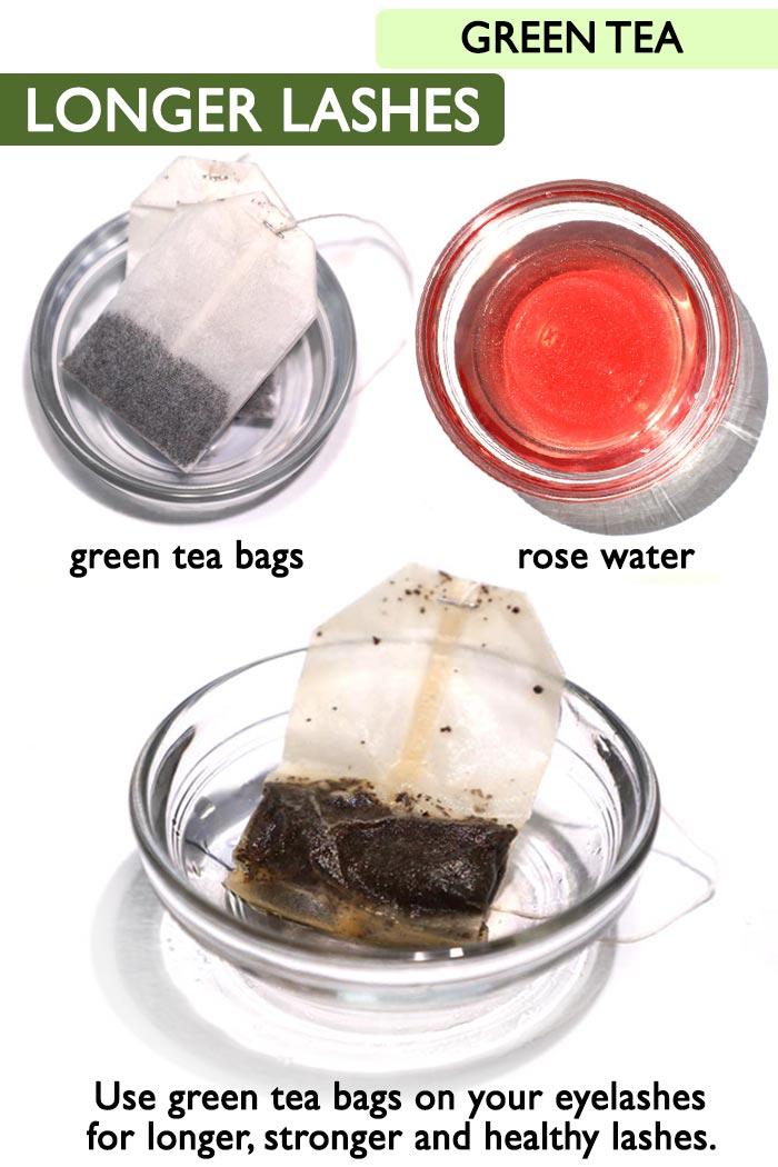 Green tea longer lashes -