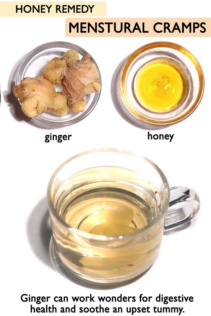 Honey menstrual cramps -