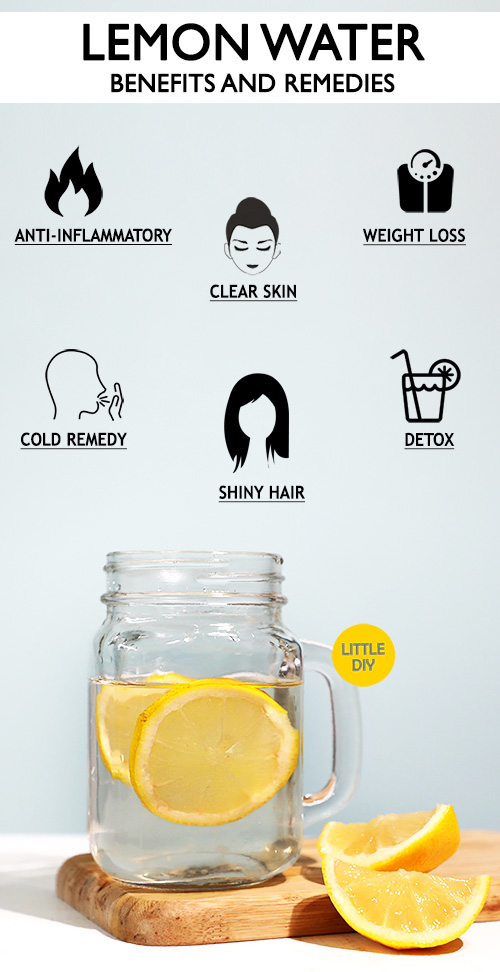 LEMON WATER BENEFITS AND REMEDIES