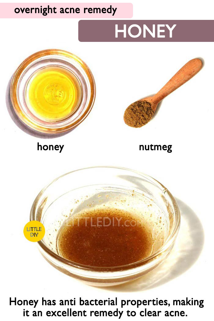 Overnight Acne Remedy with Honey -